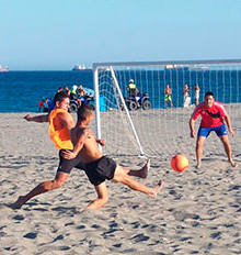 beach volleyball and soccer court